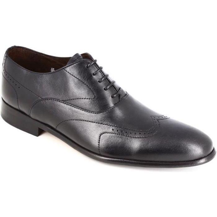 DERBY Belym Chaussures homme de Ville en Cuir  Noir