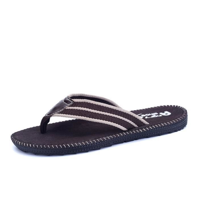 chaussure hommede luxe nouvelle marque Tongs tongs sandale homme Nouvelle Mode chaussures de plage Grande Taille 44 8KnCs5R