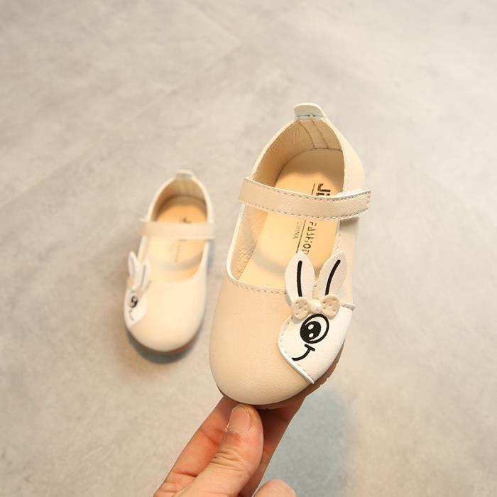 Chaussures de dessin animé de filles Velcro Princess chaussures Chaussures simples respirantes Chaussures en cuir Taille 21-30 23prN8A