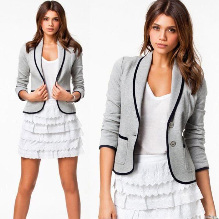 Femmes S Manches D'affaires Pageare8710 6xl Veste Longues Slim Tops Taille Costume Blazer Manteau Les Outwear SVpqUMzG