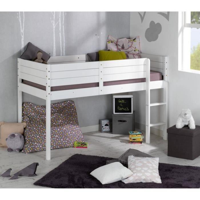 lit demi hauteur great lit places en hauteur lit sureleve. Black Bedroom Furniture Sets. Home Design Ideas