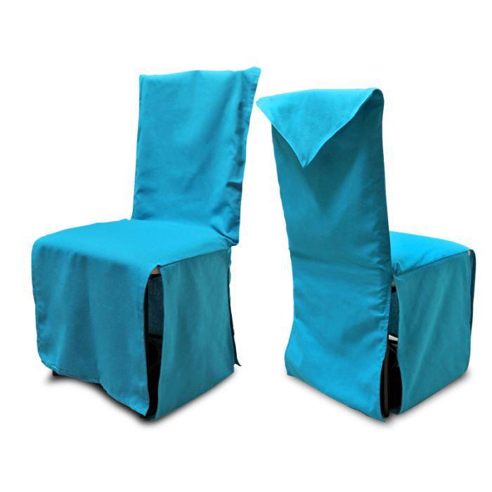 housse de chaise coton recycl panama bleu achat vente housse de chaise cdiscount. Black Bedroom Furniture Sets. Home Design Ideas