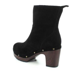 Taille 36 Women's K3E49 calf Clog Closed Boots Toe Suede Clarks Abby Mid vdfqwTqP6