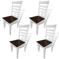 CHAISE Lot de 4 chaises de cuisine et de salle à manger e