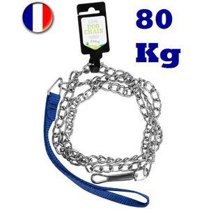 LAISSE - ACCOUPLE Laisse Chaîne 120 cm - Résistance 80 Kg - Pour Chi