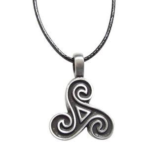 SAUTOIR ET COLLIER Pendentif collier symbole Triskel spirale vintage,