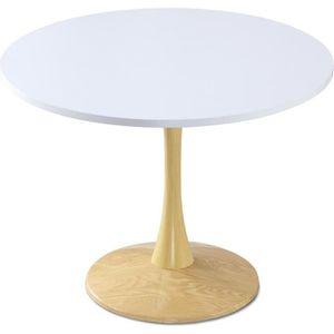 TABLE À MANGER SEULE Table ronde Necy Chêne et Blanc