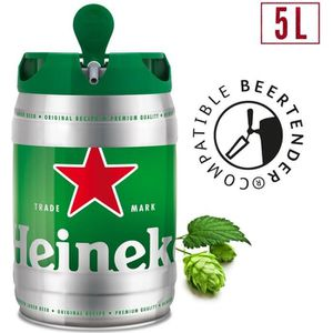 BIÈRE Fut de bière  Heineken blonde 5% 5L  beertender