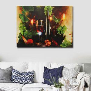 TABLEAU - TOILE TEMPSA LED Tableau Peinture Mural Sans Cadre en To