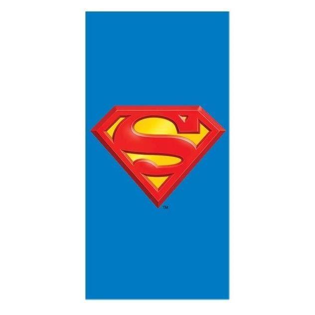 SUPERMAN Serviette de plage microfibre 70x140 cm bleu, rouge et jaune