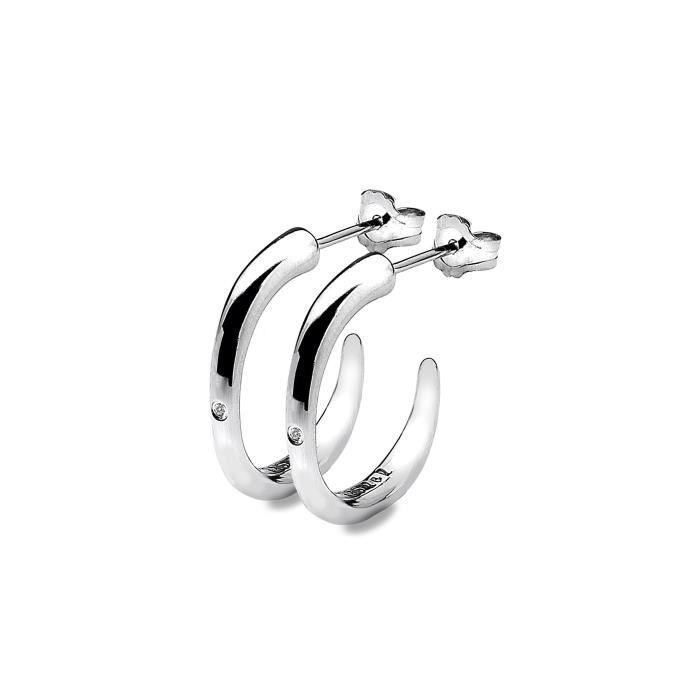 Boucles Doreilles - Argent - 925-1000 - J - Diamant - Femme XNKT8