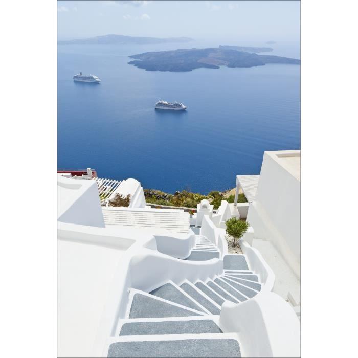 Stickers muraux déco: Escaliers grecs Dimensions - 110x160cm - Achat ...