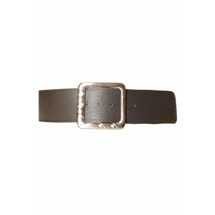 nouveaux prix plus bas nouveaux styles 50% de réduction Ceinture Noir large avec grosse boucle carré SG-0343 - Achat ...
