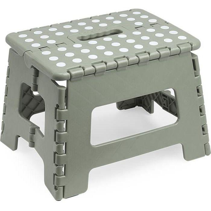 tabouret pliant tabouret marche pied tabouret marche gris pour enfant et adulte capacit. Black Bedroom Furniture Sets. Home Design Ideas