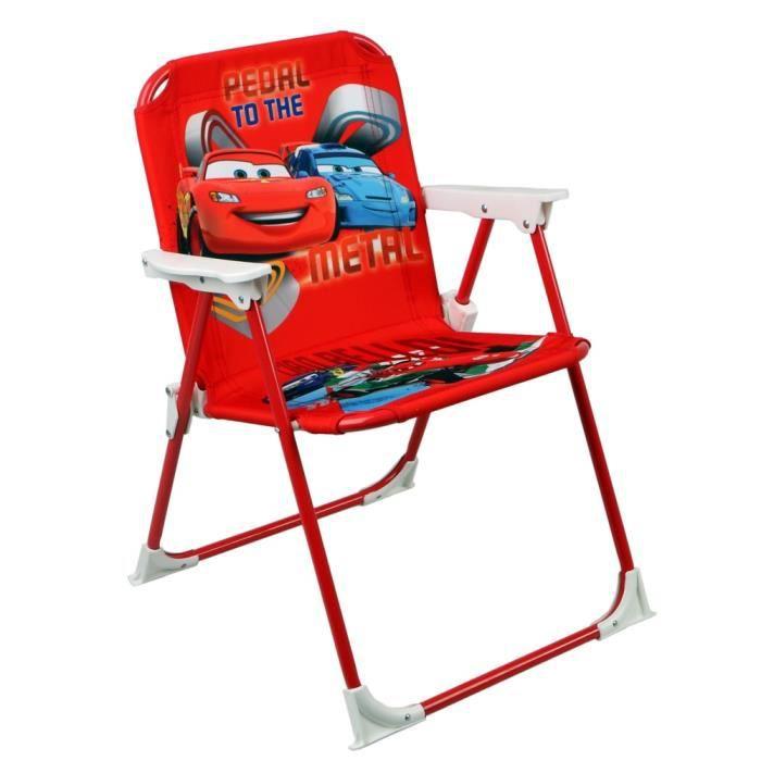 chaise pliable pour enfant cars flash mc queen achat. Black Bedroom Furniture Sets. Home Design Ideas