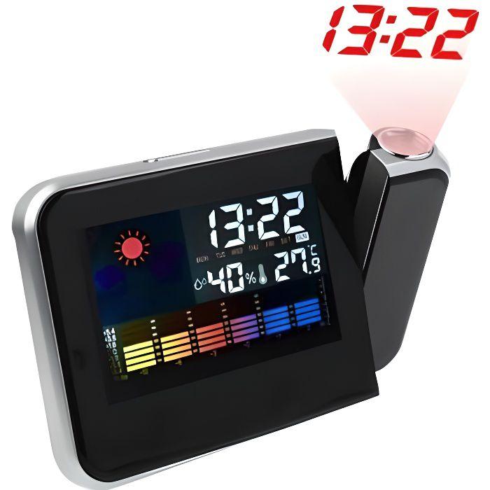 Reveil avec projecteur station m t o temp rature radio - Reveil avec projection de l heure au plafond ...