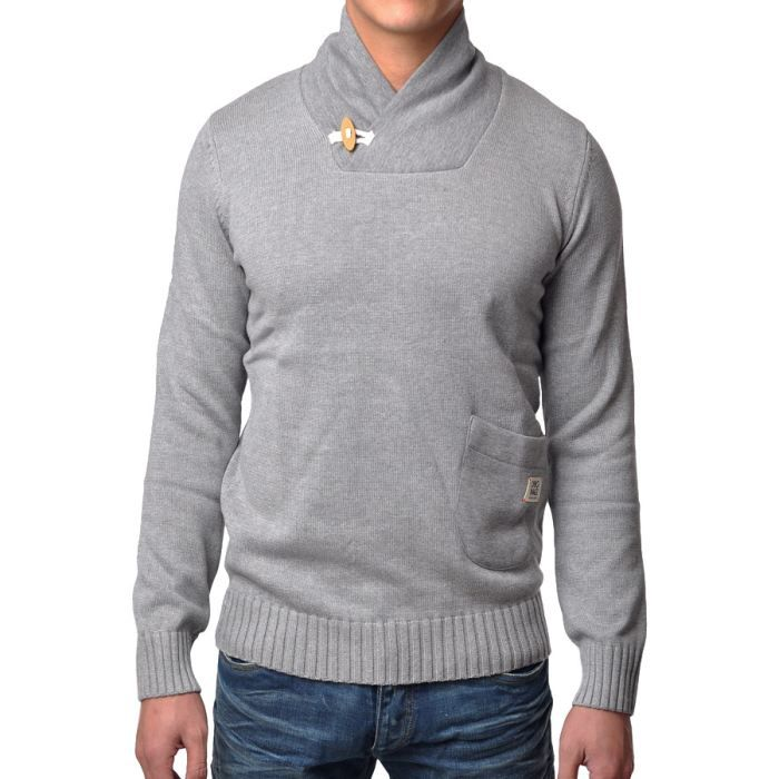 pull homme gris 0a655be8c92c