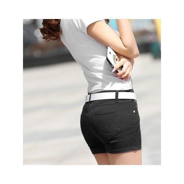 21156ec962 Short court pour femme tendance Pop Noir