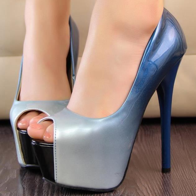 Couleur des chaussures sexy tête de poisson.