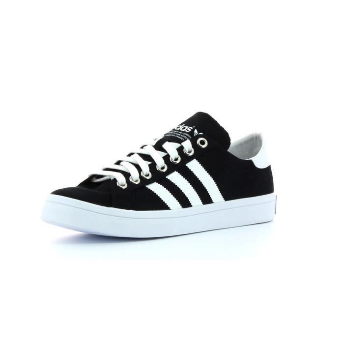 Chaussures CourtVantage Black/Black - adidas Originals Noir Noir - Achat / Vente basket  - Soldes* dès le 27 juin ! Cdiscount