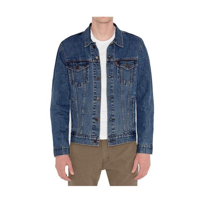 veste en jeans levi 39 s trucker stone bleu bleu achat vente veste cdiscount. Black Bedroom Furniture Sets. Home Design Ideas