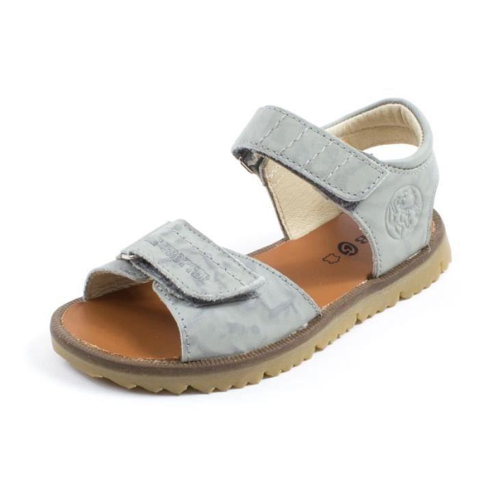 GBB Sandales MALEK Gris Gris - Achat   Vente sandale - nu-pieds ... a9f198cb02e