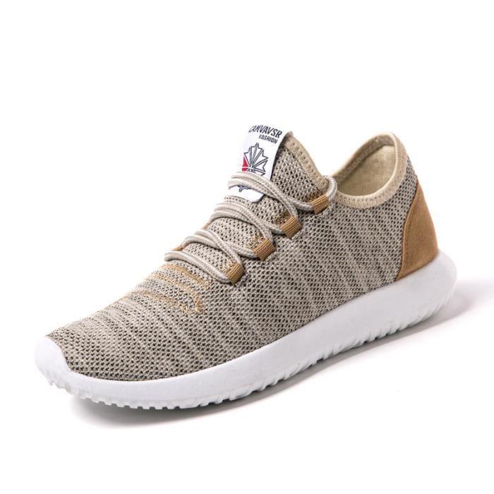 chaussures multisport Homme de sport en plein air de marche tendance PLATS conduite pour hommes gris taille7 0oFHQ