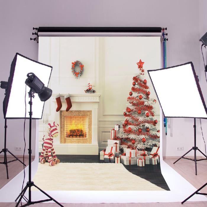 900x600mm toile de fond studio photo noel affiche de soie for Achat decoration de noel