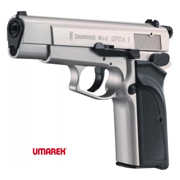 Browning gpda nickel arme de d fense cal 9mm p a k prix pas cher soldes d s le 10 janvier - Arme pas cher ...