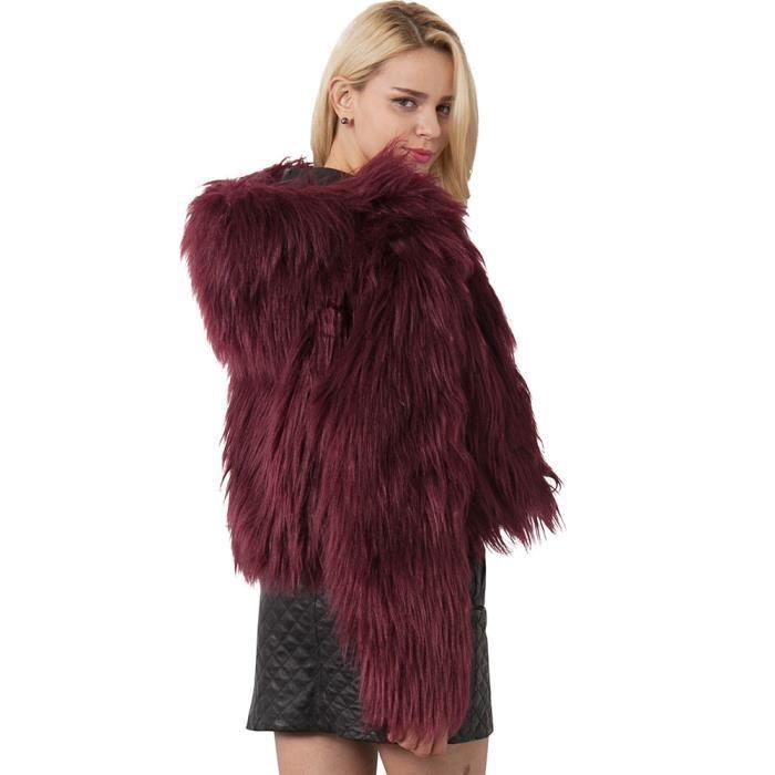 D'hiver Fourrure Manteau Paontry9384 De Parka Fausse Chaud Manteaux Veste À Solide Femmes Capuche Mesdames En IqA8wx0R
