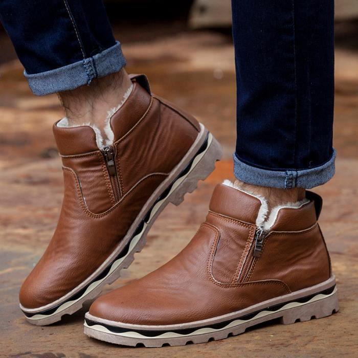 Bottes hommes bottes d'hiver chaud Chaussures hommes Bottes en coton mJ13j7R
