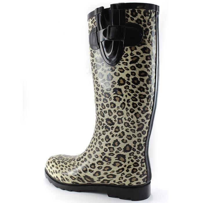Et les flaques d'eau de pluie neige Boot Multi Color Mi-mollet Cuissardes Bottes de pluie imperméables UF5G3 Taille-37