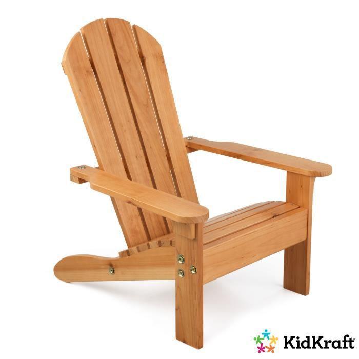KIDKRAFT - Chaise enfant d'extérieur en bois Adirondack