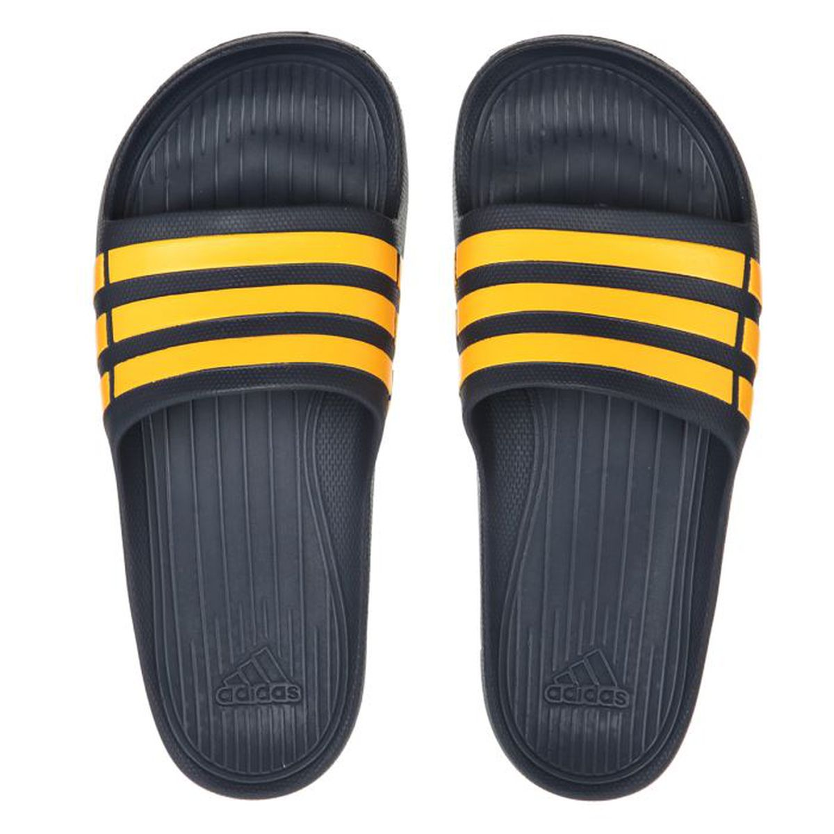 a18f3c098f0 ADIDAS Claquettes Duramo Slide Noir et jaune - Achat   Vente sandale ...