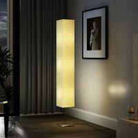 ECLAIRAGE DE MEUBLE Lampe à pied de salon 135 cm Alu crème