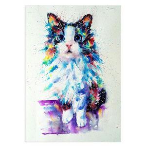 TABLEAU - TOILE Artistique Cat 5D Diamant Peinture Point De Croix