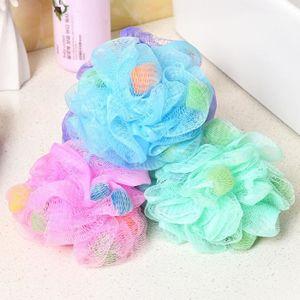 ÉPONGE - FLEUR DE BAIN 4pcs PE doux Bath Ball Rich bain à bulles éponge B