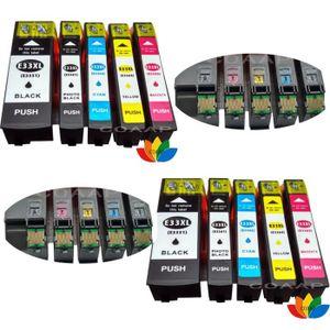 CARTOUCHE IMPRIMANTE 10 Pack Compatible EPSON 33XL T3351 T3361 T3362 T3