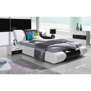 Chambre adulte complet blanc laquee - Achat / Vente Chambre adulte ...