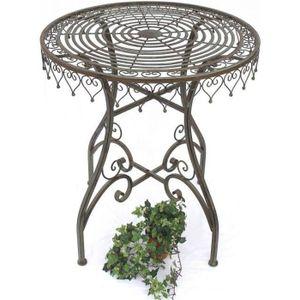 Table de jardin en fer forge - Achat / Vente pas cher