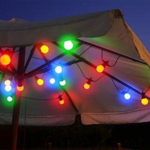 GUIRLANDE D'EXTÉRIEUR Guirlande guinguette multicolore 20 Lampes