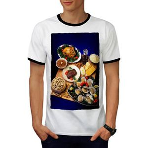 T-SHIRT Repas Photo Cuisine Aliments Manger En bonne santé