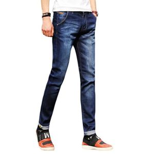 JEANS Jeans Homme Fashion Slim Fit Casual Blanchi Pantal
