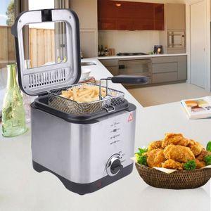 FRITEUSE ELECTRIQUE Friteuse électrique 900W 1.5L avec panier à fritur