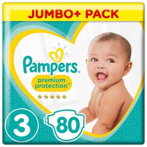 COUCHE Pampers Premium Protection Taille 3, 6-10 kg, 80 C