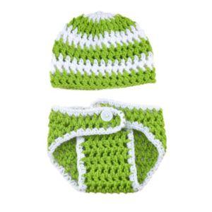 Tricoté à la main nouveau-né bébé photographie accessoires photo prendre  des tenues tricotées costume unisexe mignon chapeau 4d9f300907d