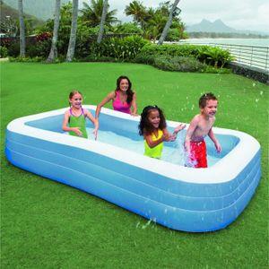 intex piscine gonflable rectangulaire pour la famille 3 05 x1 83 x 0 56m achat vente. Black Bedroom Furniture Sets. Home Design Ideas