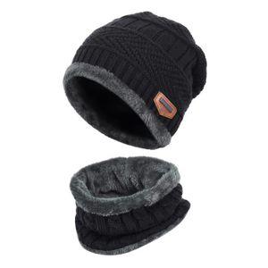 24932d24672a BONNET - CAGOULE Vbiger Ensemble bonnet et écharpe en maille Kids W