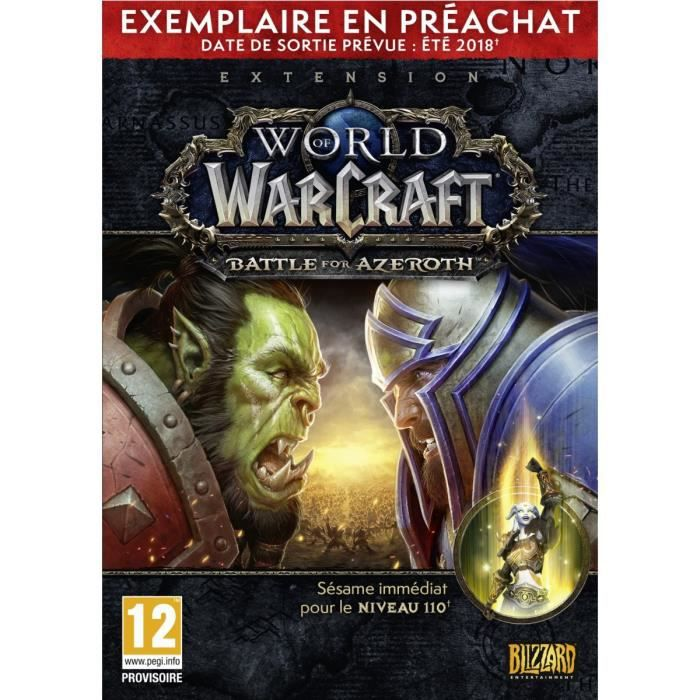 World of Warcraft Extension: Battle for Azeroth Pre-purchase Edition Jeu PC