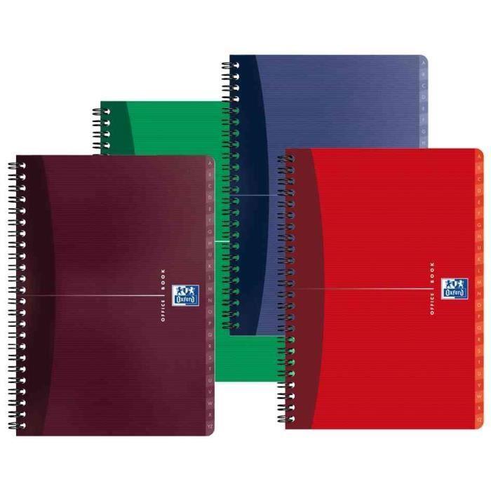 OXFORD Répertoire reliure intégrale - A4 - 180 pages - Office Essentials